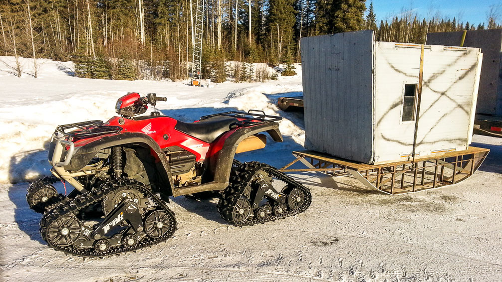 Treaded quad (ATV) used by Alpine Outfitters in Alberta, Canada